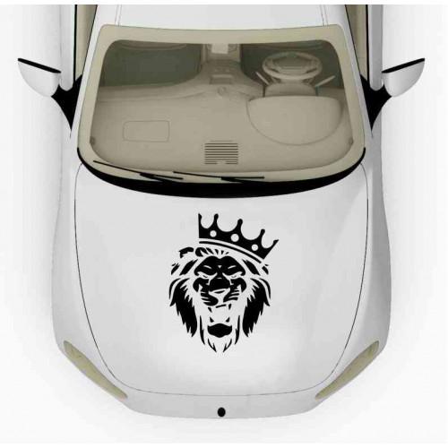 Наклейка на капот Лев с короной