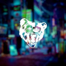 Рев медведя наклейка на автомобиль