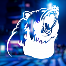 Наклейка Ревущий медведь
