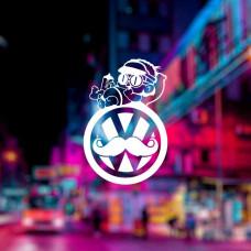 Наклейка на авто с логотипом Volkswagen