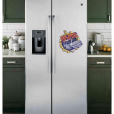 "Наклейка на холодильник Белая ""BACK TO THE OLD SCHOOL"""