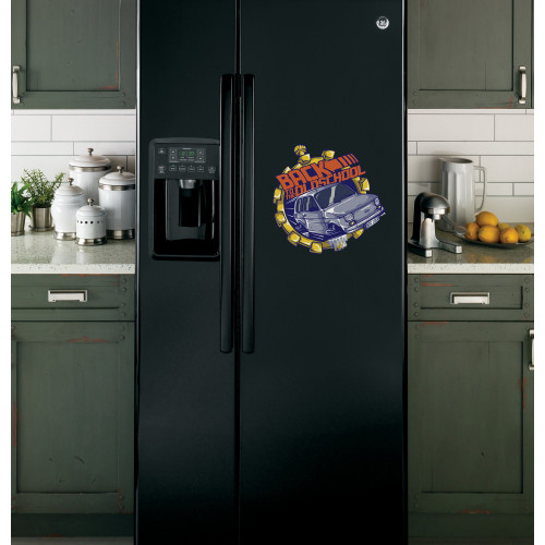 "Наклейка на холодильник Черная ""BACK TO THE OLD SCHOOL"""