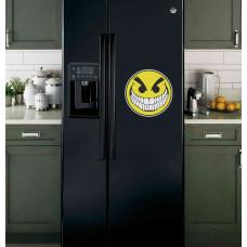 """Наклейка на холодильник Черная """"Злой смайлик"""""""