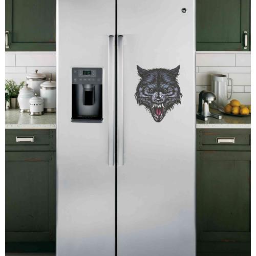 """Наклейка на холодильник """"Злой волк"""""""