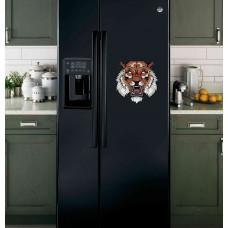"""Наклейка на холодильник Черная """"Злой тигр"""""""