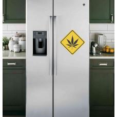 """Наклейка на холодильник Белая """"Лист"""""""