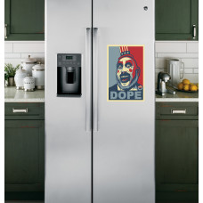"""Наклейка на холодильник Белая """"DOPE"""""""