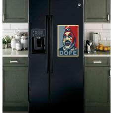 """Наклейка на холодильник Черная """"DOPE"""""""
