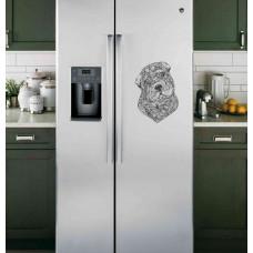 """Наклейка на холодильник """"Орнамент собаки"""""""