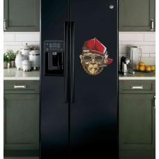 """Наклейка на холодильник Черная """"Горилла"""""""
