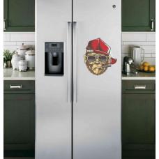 """Наклейка на холодильник Белая """"Горилла"""""""