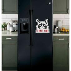 """Наклейка на холодильник """"I HATE YOU!"""""""