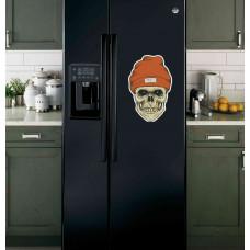 """Наклейка на холодильник """"Череп в шапке"""""""