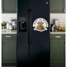 """Наклейка на холодильник """"I WANT TO BELIEVE"""""""
