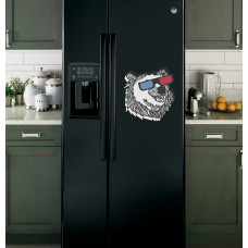 """Наклейка на холодильник """"Медведь в очках"""""""