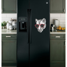 """Наклейка на холодильник """"Пантера в очках"""""""