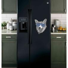 """Наклейка на холодильник """"Волк в очках"""""""