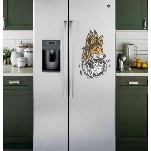 "Наклейка на холодильник ""Лиса"""