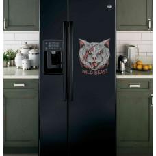 """Наклейка на холодильник Черная """"Wild Beast"""""""