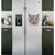 "Наклейка на холодильник Белая ""Wild Beast"""