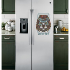 """Наклейка на холодильник Белая """"Wild Dog"""""""