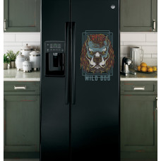 """Наклейка на холодильник Черная """"Wild Dog"""""""