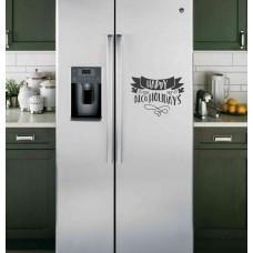 """Наклейка на холодильник """"Happy Alcoholidays"""""""