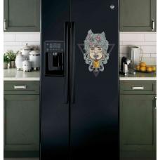 """Наклейка на холодильник Черная """"Оборотень"""""""