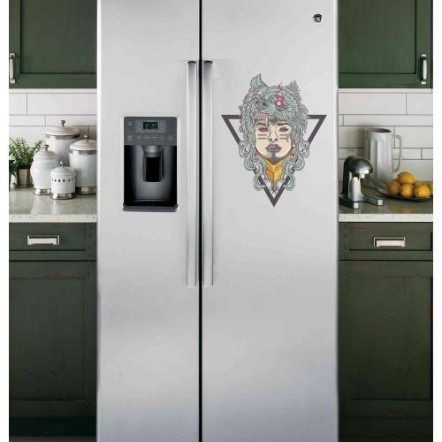 "Наклейка на холодильник Белая ""Оборотень"""