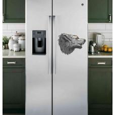 """Наклейка на холодильник """"Волк в профиль"""""""