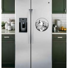 """Наклейка на холодильник """"Волк в круге"""""""