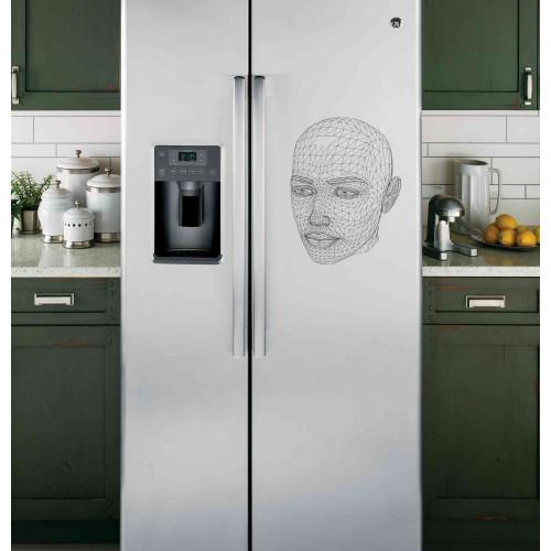 """Наклейка на холодильник """"Орнамент лица"""""""