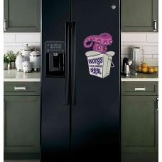 """Наклейка на холодильник Черная """"Wongs"""""""