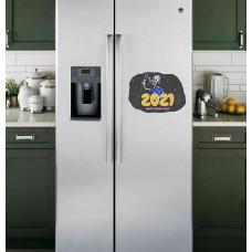 "Наклейка на холодильник ""2021, HAPPY NEW YEAR"""