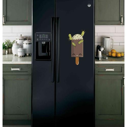 """Наклейка на холодильник Черная """"Мороженое"""""""