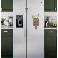 """Наклейка на холодильник Белая """"Мороженое"""""""