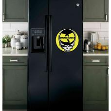 "Наклейка на холодильник Черная ""Wo-Tans"""