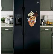 """Наклейка на холодильник Черная """"XXXTentacion"""""""