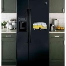 """Наклейка на холодильник Черная """"Автобус"""""""