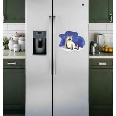 """Наклейка на холодильник Белая """"Волк из Жил был пес"""""""