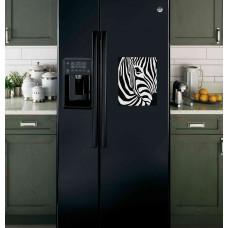 """Наклейка на холодильник Черная """"Зебра"""""""
