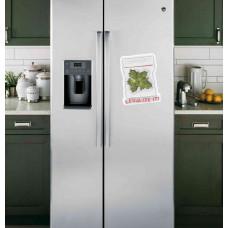 """Наклейка на холодильник Белая """"Legalize It!"""""""