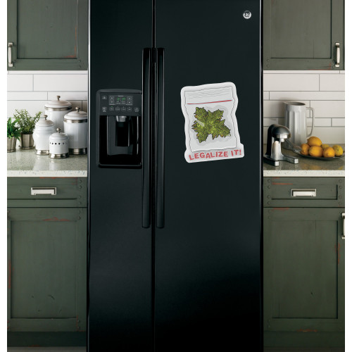 """Наклейка на холодильник Черная """"Legalize It!"""""""