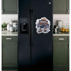 """Наклейка на холодильник Черная """"Brain"""""""
