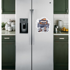 "Наклейка на холодильник Белая ""Brain"""