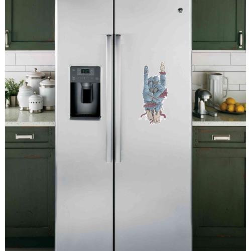 "Наклейка на холодильник Белая ""Рука Зомби"""