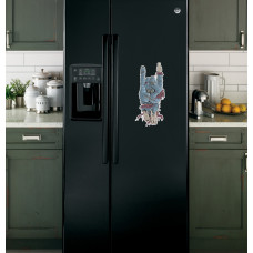 """Наклейка на холодильник Черная """"Рука Зомби"""""""
