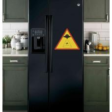 """Наклейка на холодильник Черная """"НЛО"""""""