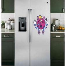 "Наклейка на холодильник Белая ""All seeing bunny"""