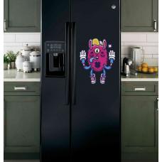 """Наклейка на холодильник Черная """"All seeing bunny"""""""